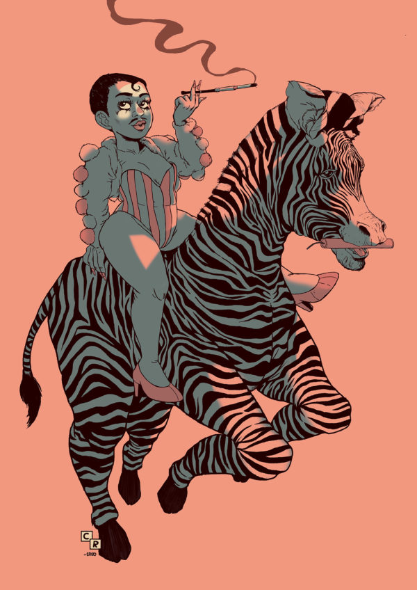 Miss Abel Illustration zebra print