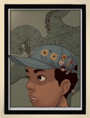 Nina illustration kvinna bläckfiskarmar